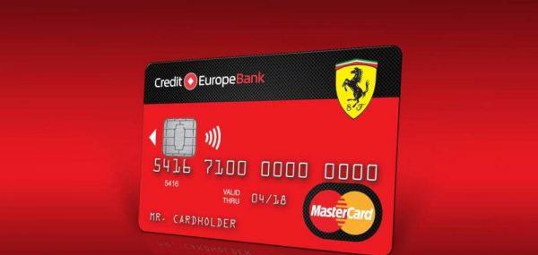 Кредитная карта Ferrari Кредит Европа банка
